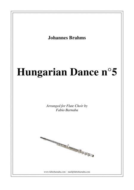 Hungarian Dance n°5 - for Flute Choir