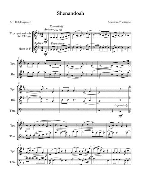 Shenandoah For Brass Trio