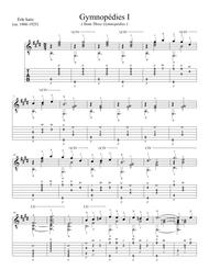 Gymnopedies I (from Three Gymnopedies) for Solo Guitar