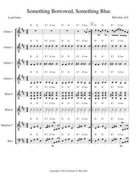 Something Borrowed, Something Blue (for Guitar Ensemble)
