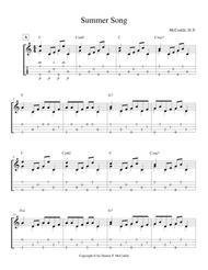 Summer Song (for Solo Fingerstyle Ukulele)