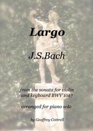 Largo by JS Bach arranged for piano