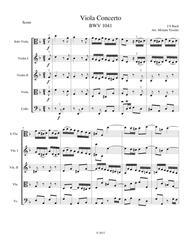Viola Concerto in D Minor, Score