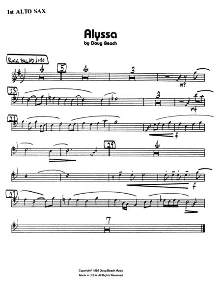 Alyssa - 1st Eb Alto Saxophone