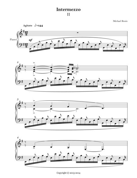 Intermezzo No.2 for solo piano