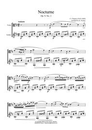 Chopin's nocturne op. 9 no. 2 sheet music for piano download free.