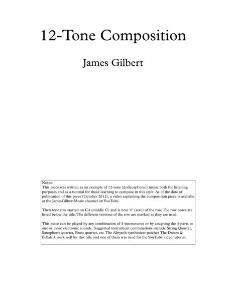 12-tone composition for 4 instruments