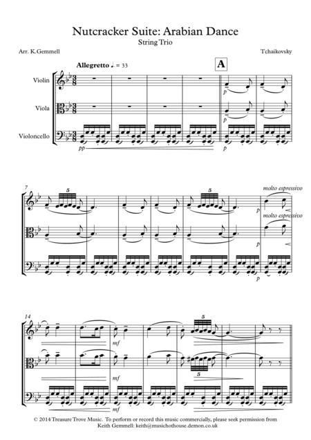 Suite from The Nutcracker. Danse arabe - Full Score