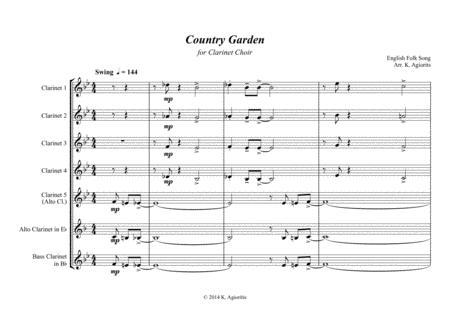 download country garden jazz arrangement for clarinet. Black Bedroom Furniture Sets. Home Design Ideas