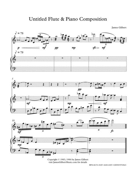 Untitled Flute & Piano Composition