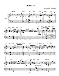 That's All  Jazz Piano Etude
