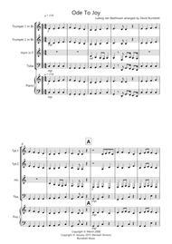 Ode to Joy for Brass Quartet