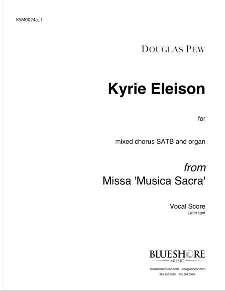 Kyrie Eleison, SATB and Organ