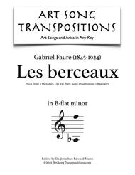 Les berceaux, Op. 23 no. 1 (B-flat minor)