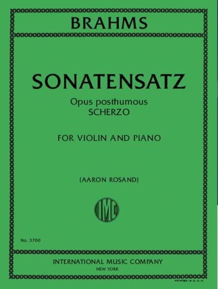 Sonatensatz, Opus Post., Scherzo