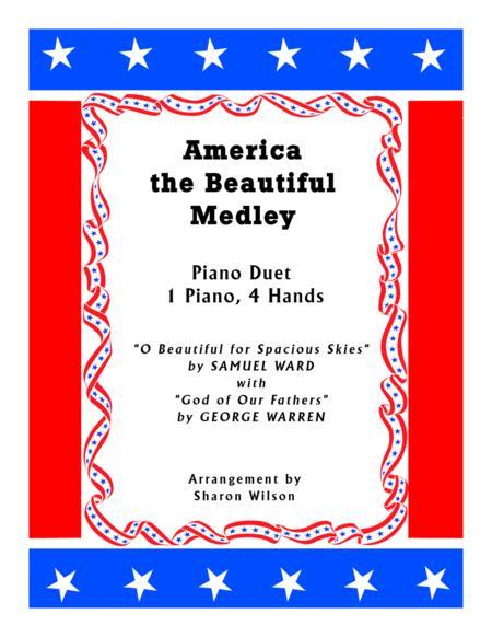 America the Beautiful Medley (1 Piano, 4 Hands Duet)