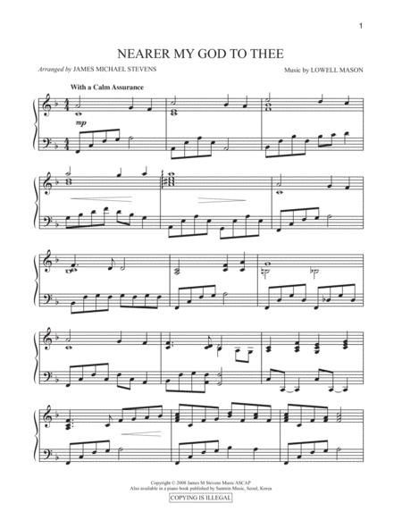 Nearer My God to Thee (Piano Arrangement)