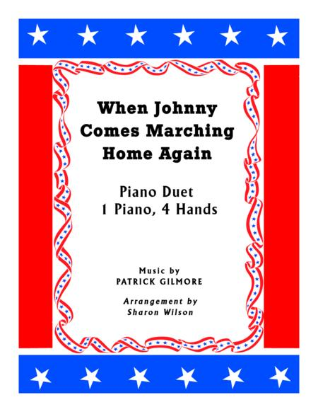 When Johnny Comes Marching Home (1 Piano, 4 Hands Duet)