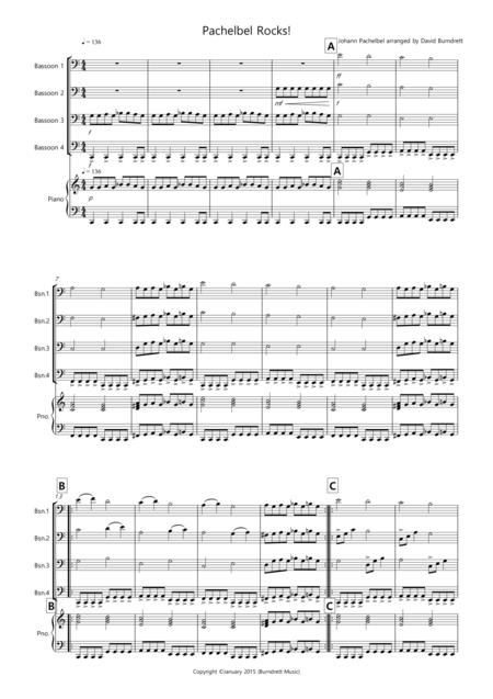 Pachelbel Rocks! for Bassoon Quartet