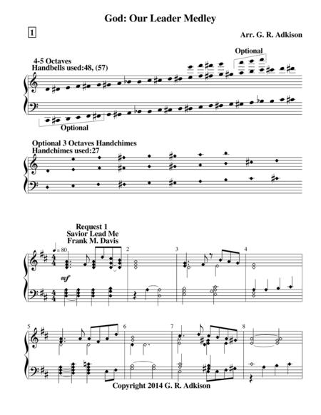 God: Our Leader Medley (for 4 and 5 octave handbell choirs)