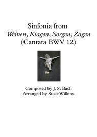 Sinfonia from Weinen, Klagen, Sorgen, Zagen (BWV 12)