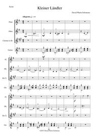 Ländler (Laendler) for flute, oboe, clarinet and guitar