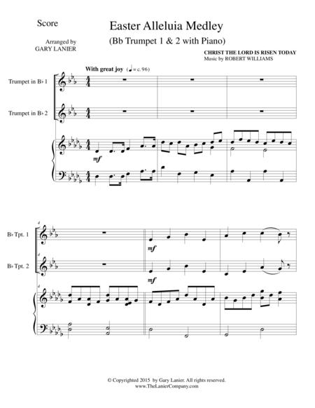 EASTER ALLELUIA MEDLEY (Trio – Bb Trumpet 1 & 2 with Piano) Score and Parts