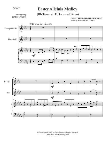 EASTER ALLELUIA MEDLEY (Trio – Bb Trumpet, F Horn/Piano) Score and Parts