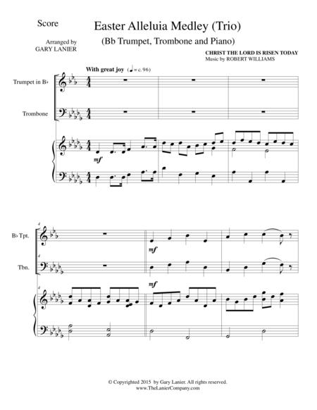 EASTER ALLELUIA MEDLEY (Trio – Bb Trumpet, Trombone/Piano) Score and Parts