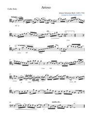 Bach Arioso (BWV 156) for Cello and Chamber Orchestra - PARTS