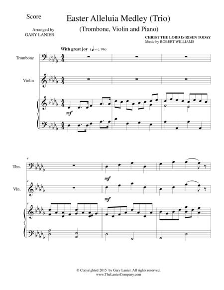 EASTER ALLELUIA MEDLEY (Trio – Trombone, Violin and Piano) Score and Parts
