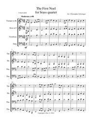 The First Noel - brass quartet (trumpet, French horn, trombone, tuba)