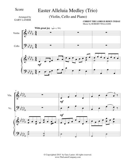 EASTER ALLELUIA MEDLEY (Trio – Violin, Cello and Piano) Score and Parts