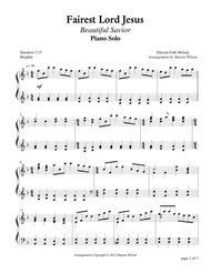 Fairest Lord Jesus (Piano Solo)