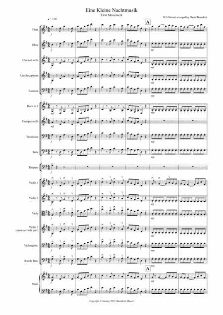 Eine Kleine (1st movement) for School Orchestra