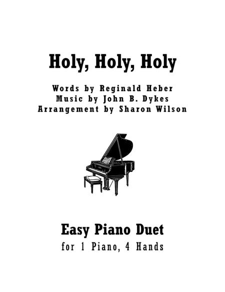Holy, Holy, Holy (Easy Piano Duet; 1 Piano, 4 Hands)