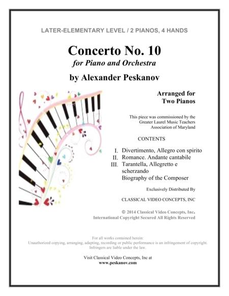 Concerto No.10 (Italian Concerto) for Piano and Orchestra