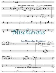 Mischievous - Piano Trio (1 Piano, 6 Hands)