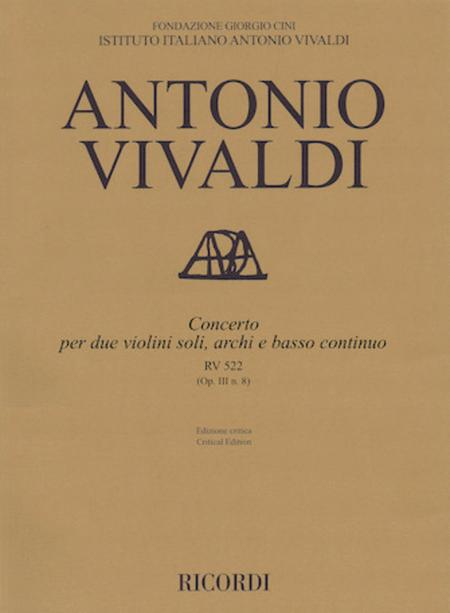 Concerto A minor, RV 522, Op. III, No. 8