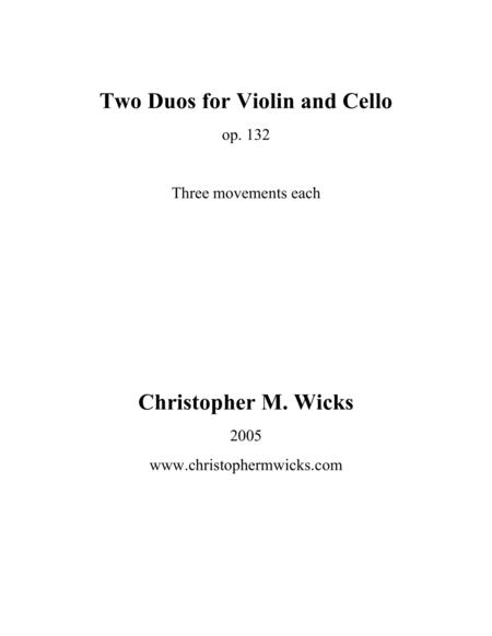 Two Duos for Violin and Cello