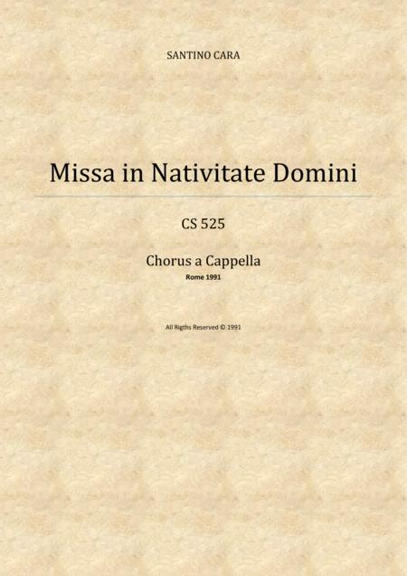 Dóminus dixit ad me-Missa in Nativitate Domini-Alto and Bass soloists and SABrB choir a cappella