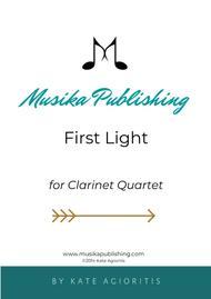 First Light - for Clarinet Quartet