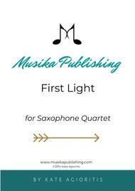 First Light - for AATT or AAAT Saxophone Quartet