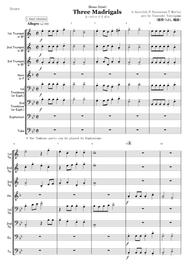 Three Madrigals (for brass octet)