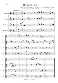 O grosse Lieb for flute quartet
