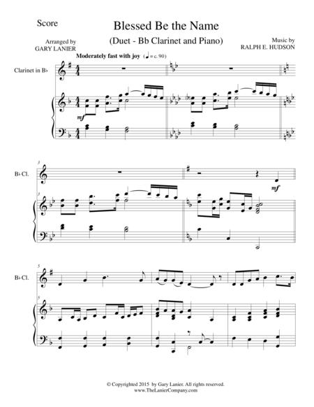 BLESSED BE THE NAME (Duet – Bb Clarinet and Piano/Score and Parts)