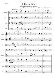 O grosse Lieb for string quartet