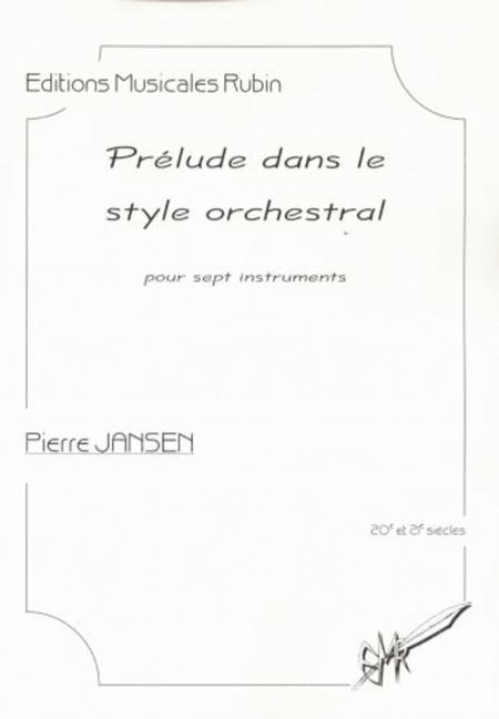 Prelude dans le style orchestral