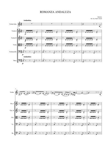 Sarasate : Romance Andaluse for Violin and String Orchestra