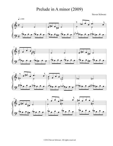 Prelude in A minor (2009)